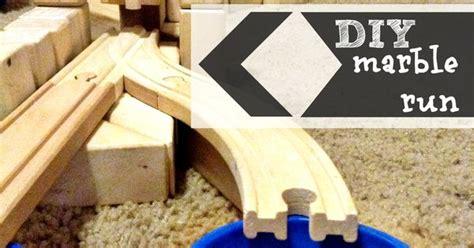 diy marble run train tracks  wooden blocks