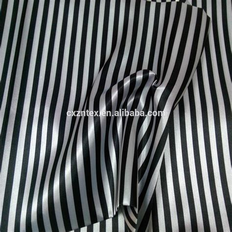 Black And White Striped Upholstery Fabric by Black And White Stripe Satin Fabric Buy Black White