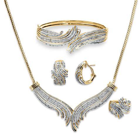 s 3 cttw gold brass necklace bracelet