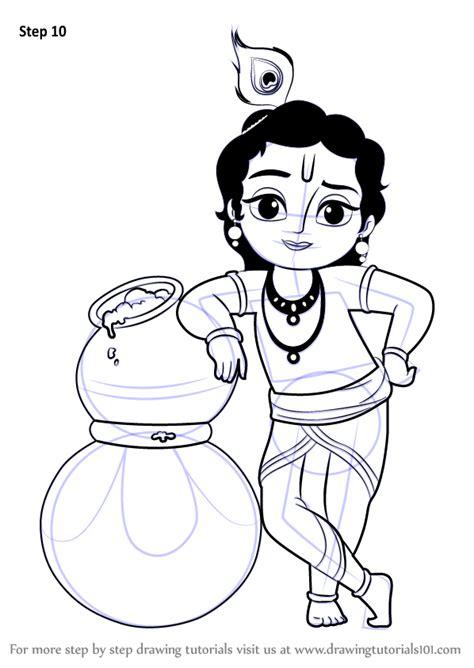 learn   draw bal krishna hinduism step  step