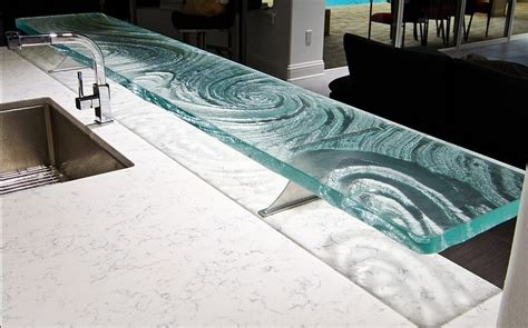 Glass Bar Top Ideas Glass Countertop And Bar Designs Downing Designs