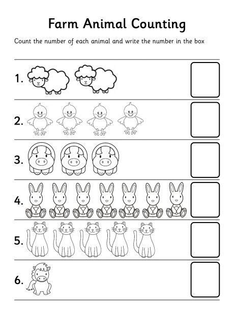 Mainan Edukasi Lets Learn Animals Colours Counting Words farm animal counting worksheet preschool is cool count for and preschool