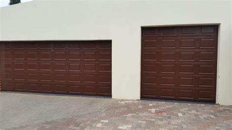 Single 20 Panel Chromadek Sectional Garage Door Security Single Garage Door Panel