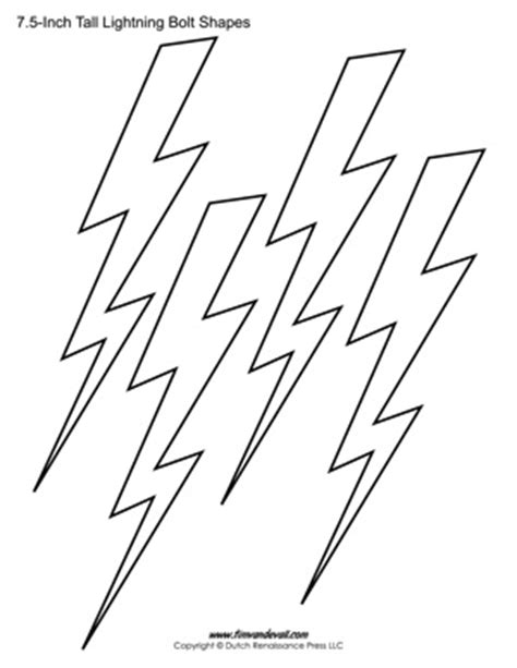 Tim Van De Vall Comics Printables For Kids Lightning Bolt Template