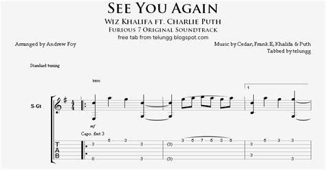 tutorial fingerstyle guitar see you again hmmm fingerstyle guitar tabs see you again wiz khalifa