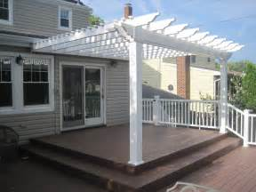 Attached Vinyl Pergola by Pergola Kits Tuscany Attached 14 X 12 Attached Pergola