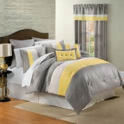Gray And Yellow Comforters yellow and gray bedding that will make your bedroom pop