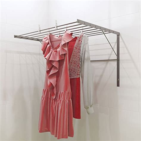 Collapsible Drying Rack Wall Mount by Clothes Drying Rack Stainless Steel Wall Mounted Folding