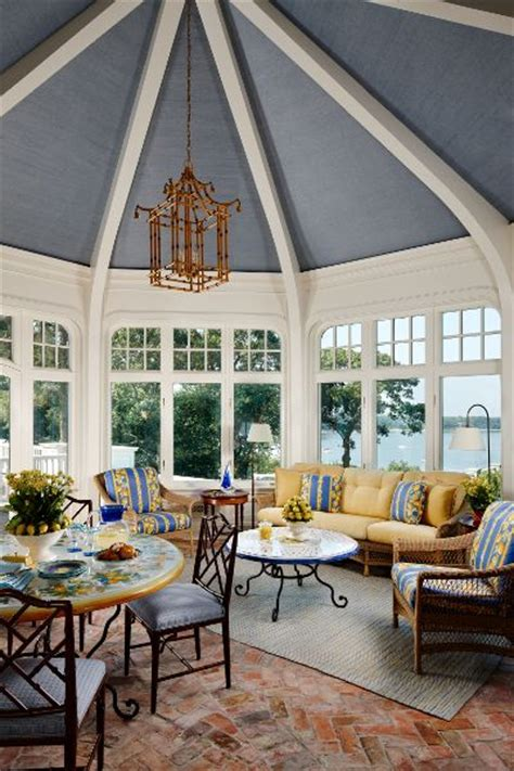 paint colors a blue ceiling with white beams the enchanted home which would you choose