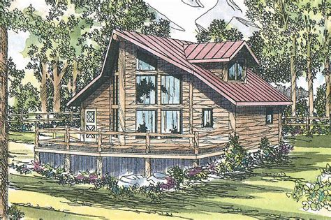 A Frame Home Plan by Sylvan 30 023 A Frame House Plans Cabin Vacation