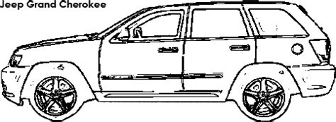 coloring pages jeep grand cherokee jeep grand cherokee dimensions