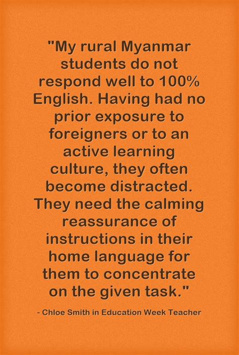 Myanmar Culture Essay by Guest Response Using Home Language In Class New Education Highway