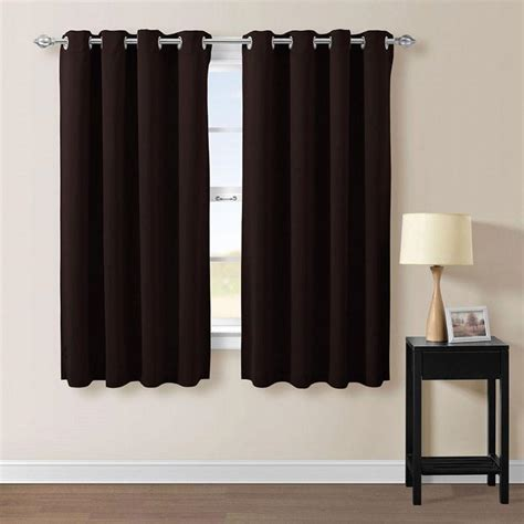 short thermal curtains 1pair short bedroom curtains black window shades eyelets