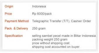 Sambel Pecel 2 Pack sheeta shop