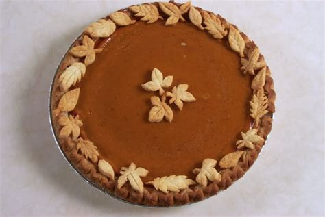 pumpkin pie w leaf decorations the heritage cook