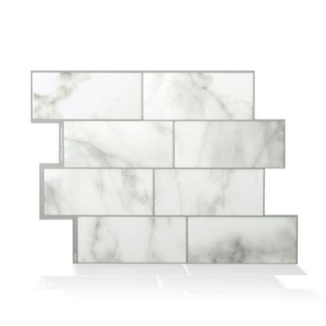 smart tiles metro carrera 11 56 in w x 8 38 in h peel smart tiles metro carrera grey 11 56 in w x 8 38 in h