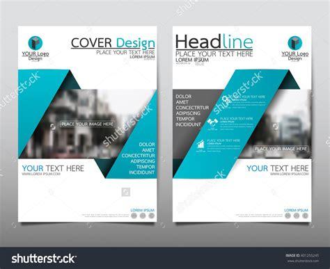 magazine leaflet design blue annual report brochure flyer design template vector