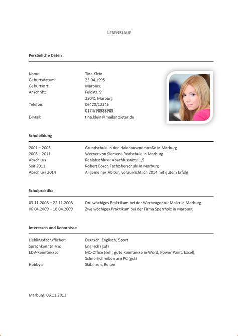 Lebenslauf Schuler Grundschule 7 Muster Lebenslauf Sch 252 Ler Questionnaire Templated