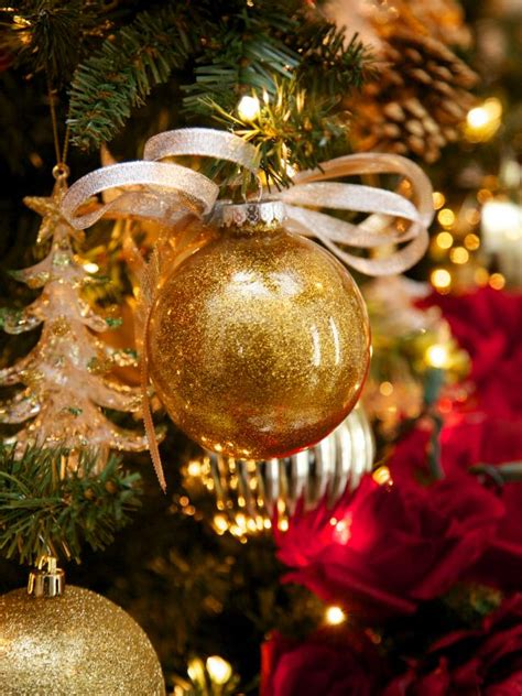 Christmas Decorations Luxury Homes make glitter glass ball ornaments hgtv