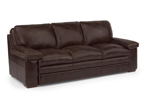 flex steel sofa flexsteel living room leather sofa 1774 31 darby s big