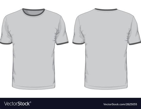 Mens T Shirts Template Front And Back Views Vector Image T Shirt Front And Back Template
