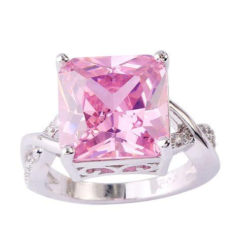 Topaz Pink elizabet 7 ct pink topaz sterling silver 925 ring nadine