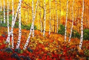 a painting for you quot graceful birch trees in autumn