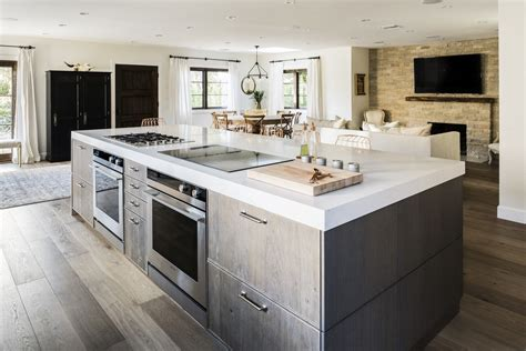 kitchen island cooktop chef ludo lefebvre s modern kitchen with rustic roots in