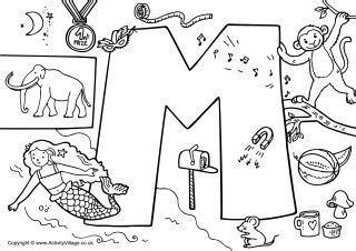 M Word Coloring Pages by I Alphabet Colouring Page M Preschool