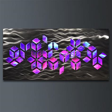 led light wall decor wall art with infused color changing led lights