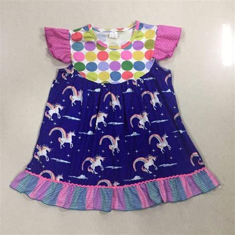 unicorn pattern dress conice nini new fashion summer style toddler girl dresses