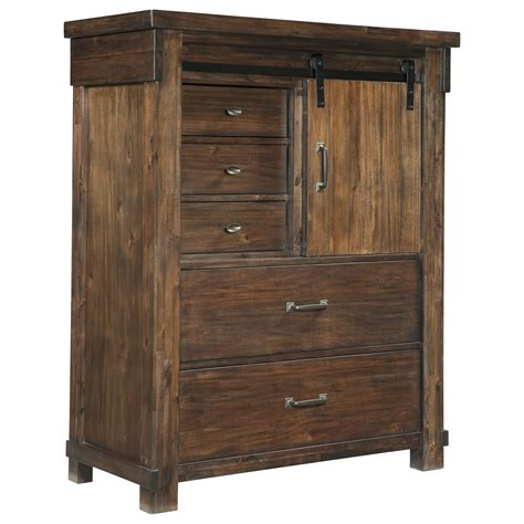 Barn Door Furniture Company Signature Design By Lakeleigh B718 46 Five Drawer Chest With Barn Door Furniture And