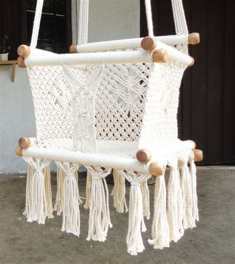 cream baby swing baby swing chair 14 7 quot kids 100 cottom thread in ecru
