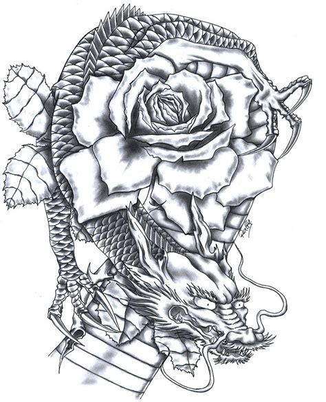 dragon rose tattoo 1000 images about and serpent on