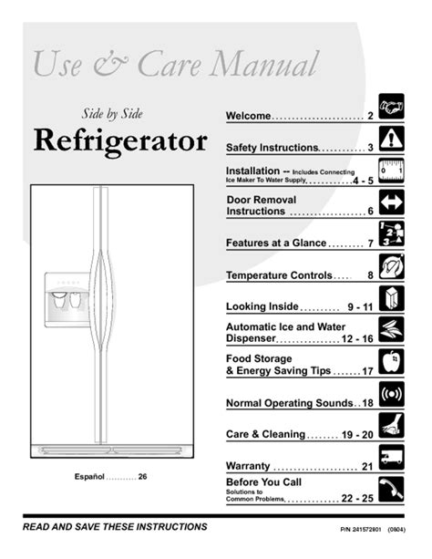 Refrigerator Users Guides Quot Refrigerator Quot Page 796
