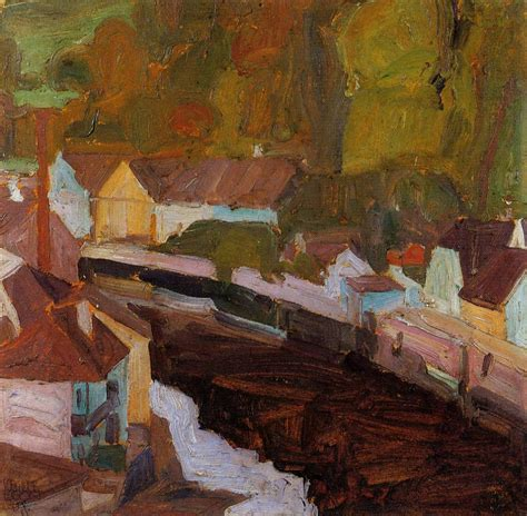 Village By The River 1908 Egon Schiele Wikiart Org