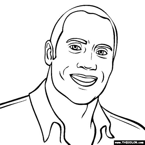 The Rock Coloring Pages Free Online Coloring Pages Thecolor by The Rock Coloring Pages