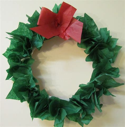 How To Make A Wreath Out Of Paper - how to make a wreath paper plate tissue paper diy