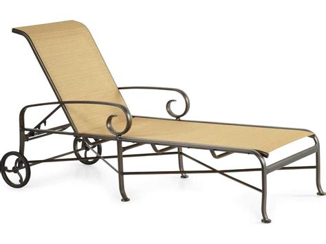 sling aluminum chaise lounge winston veneto sling cast aluminum arm chaise lounge m55009