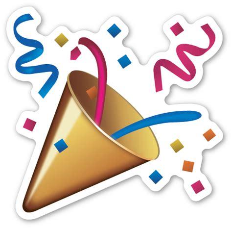 celebration emoji png party popper