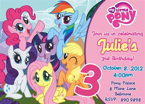 my little pony printable birthday decorations my little pony birthday party invitations free printable
