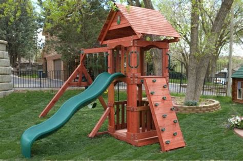 the wooden swing sets for small