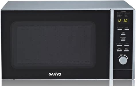Microwave Sanyo 400 Watt none panasonic 1250w microwave oven nnh965bf able slide