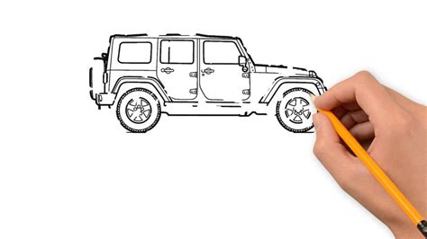 jeep drawing jeep transport with a pencil to draw step by step youtube