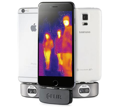 thermal smartphone smartphones can now take thermal images with new flir one
