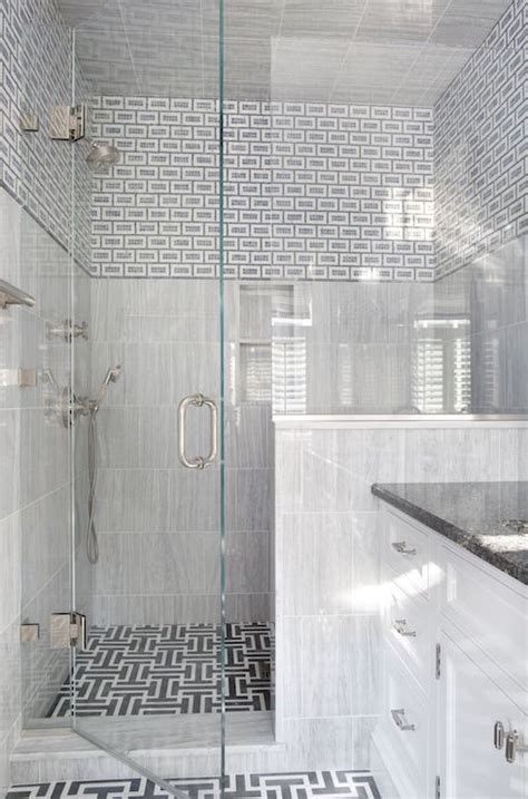 white shower white and gray shower tiles design decor photos