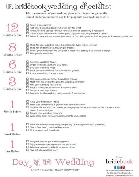 Wedding Vows Checklist by Our Free Wedding Checklist Bridebook