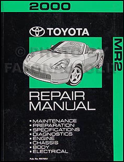car owners manuals free downloads 2000 toyota mr2 navigation system 2000 toyota mr2 repair shop manual original