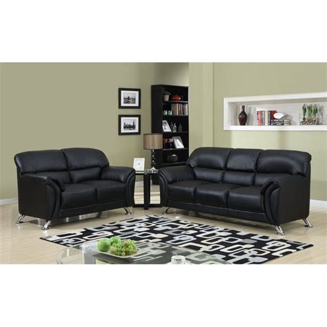 global furniture usa 2 faux leather sofa set in