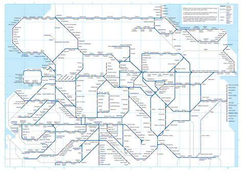map of northern northern trains rail maps